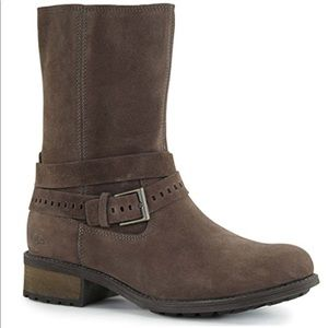 Ugg Kiings Brown Leather Suede Boots size 7.5